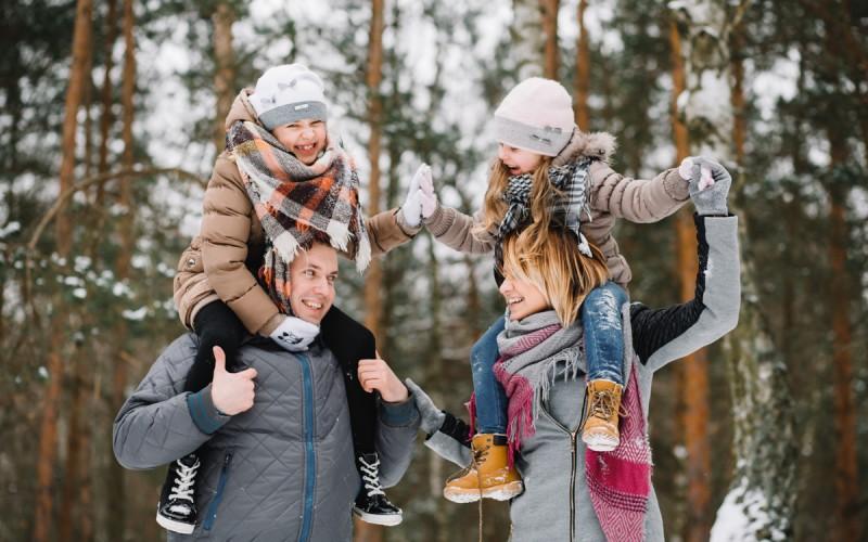 zimowa rodzina
